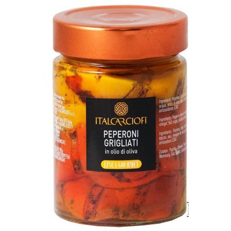 Peperoni grigliati in olio d'oliva